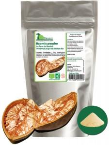 Poudre de pain de singe bio Baomix, riche en antioxydants puissants
