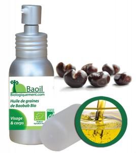 Baoil, l'huile de graines de pain de singe biologique riche en antioxydants puissants
